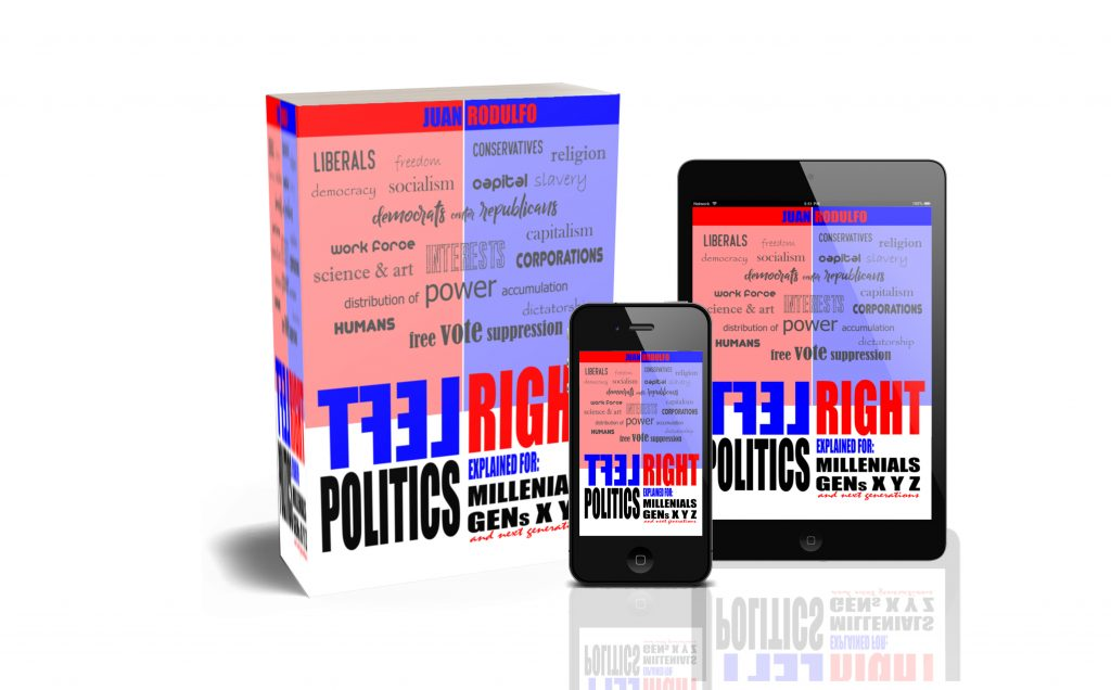 Read more about the article New Book: Left Right, Politics Explained for Millennials, Gens X Y Z and next generations